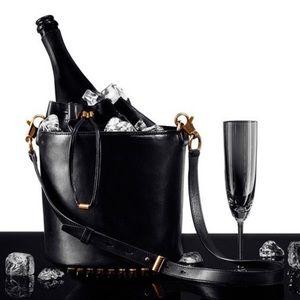 Alexander Wang Bucket Bag, Black and gold